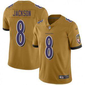 Ravens Lamar Jackson Gold Jersey